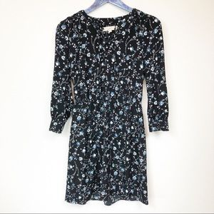 Loft Floral Long Sleeve Dress